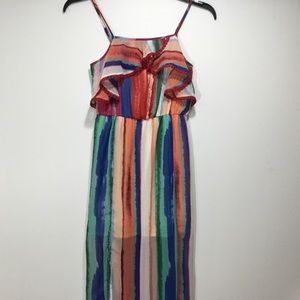 Candie's Junior Colorful Maxi Ruffle Dress Size S